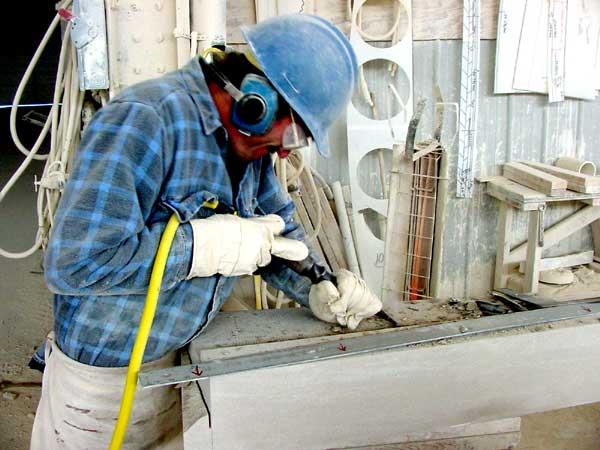 Stonecutter Hand Finishing Limestone